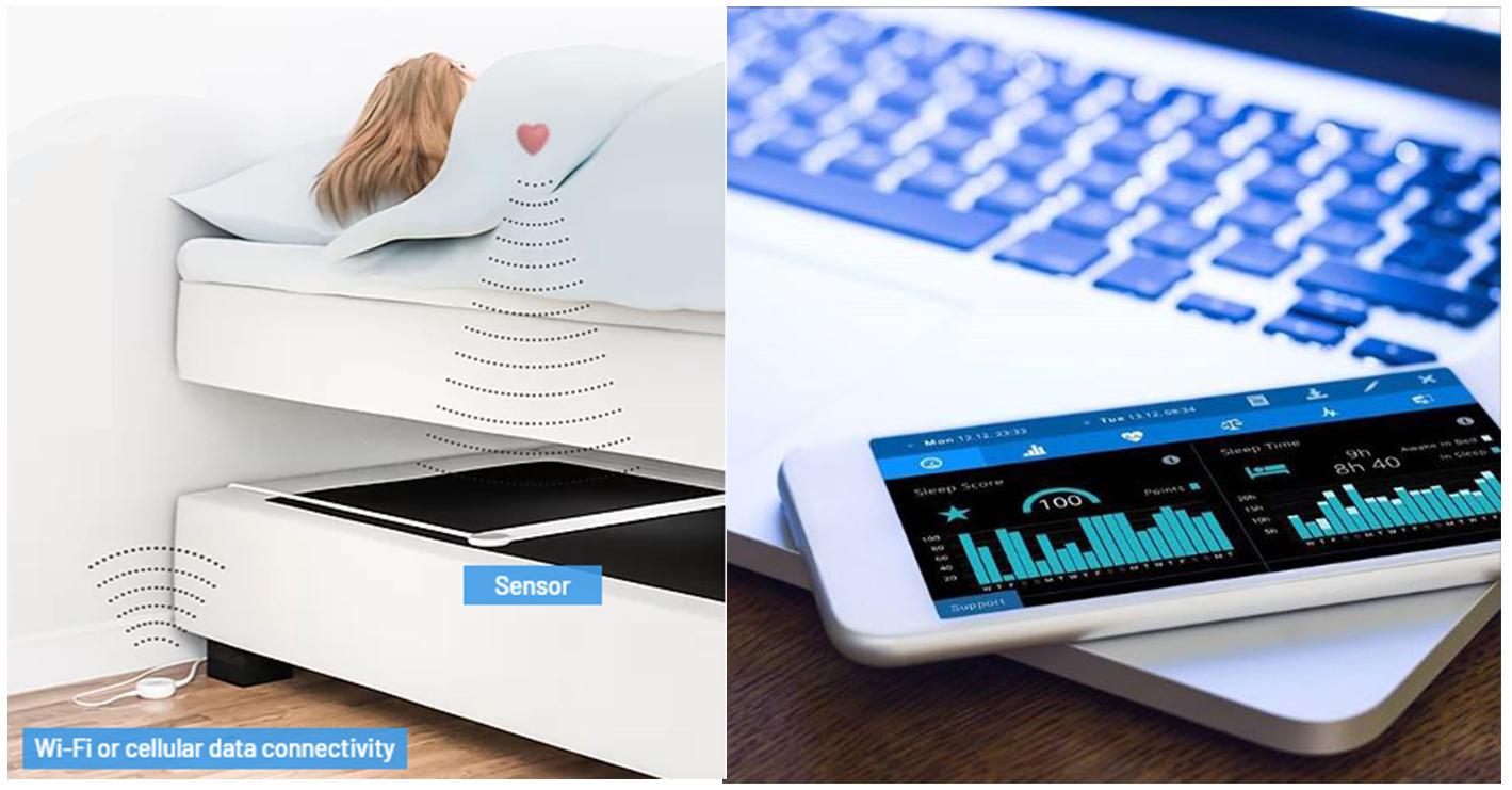 ベッドマットセンサー Emfit QS